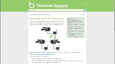 Timecode online help