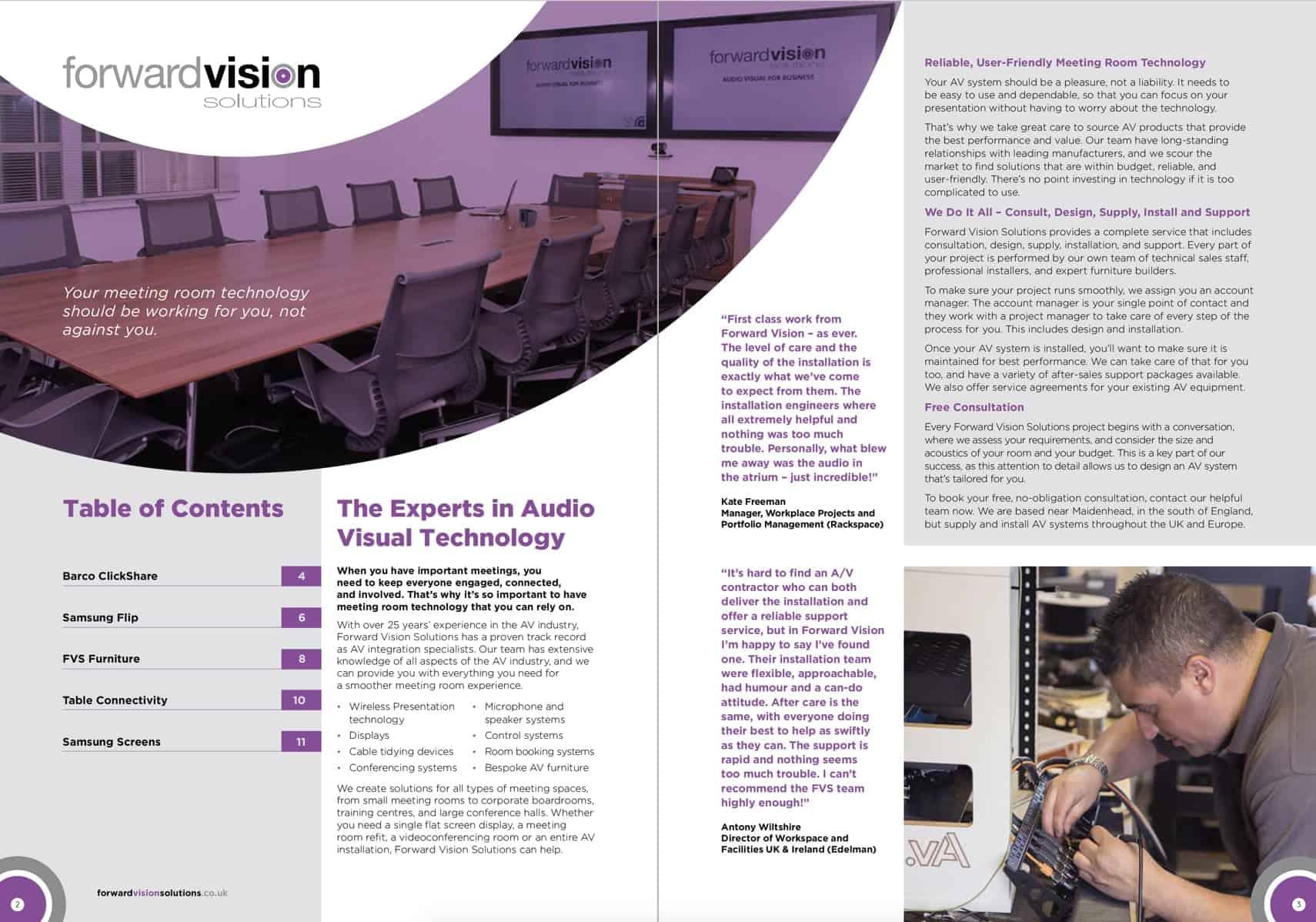 Forward vision B2B brochure