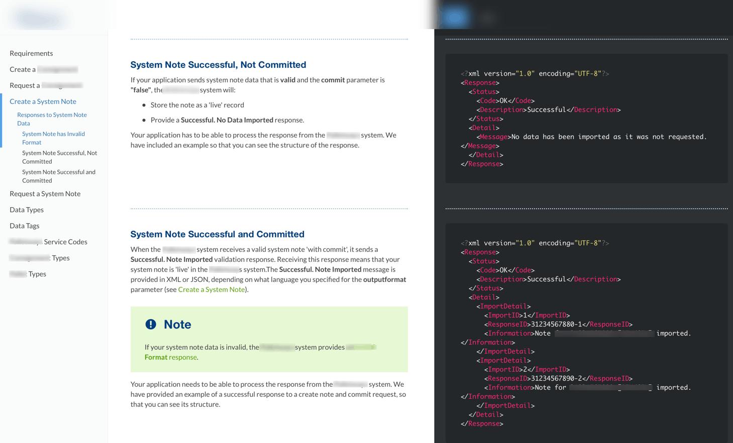 Example of API documentation