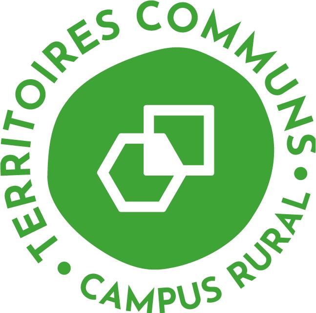 Logo de territoires communs : un hexagone et un carré entrelacés