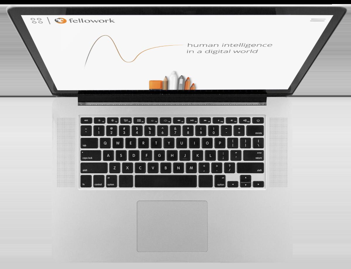 Laptop showing fellowork.de