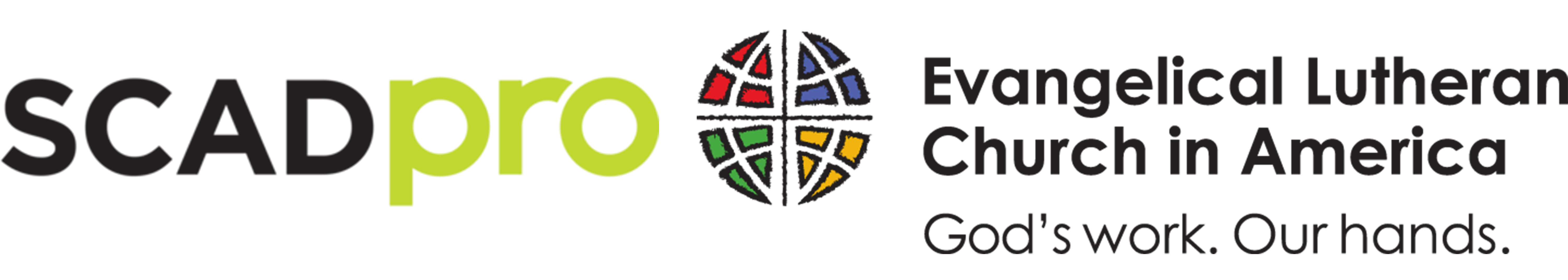 SCAD Pro and Evangelical Lutheran Church in America logo