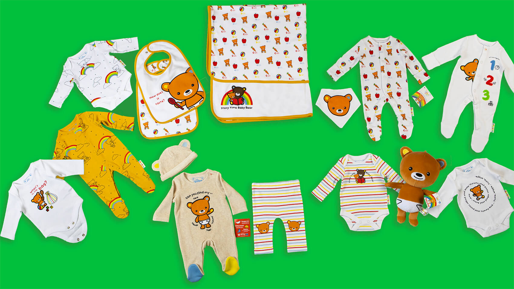 Tesco launches an exclusive range of The Baby Club's babywear and Baby Bear!