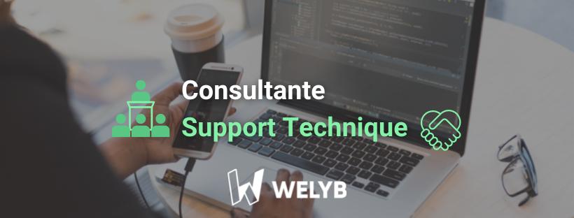 Consultante support technique Welyb