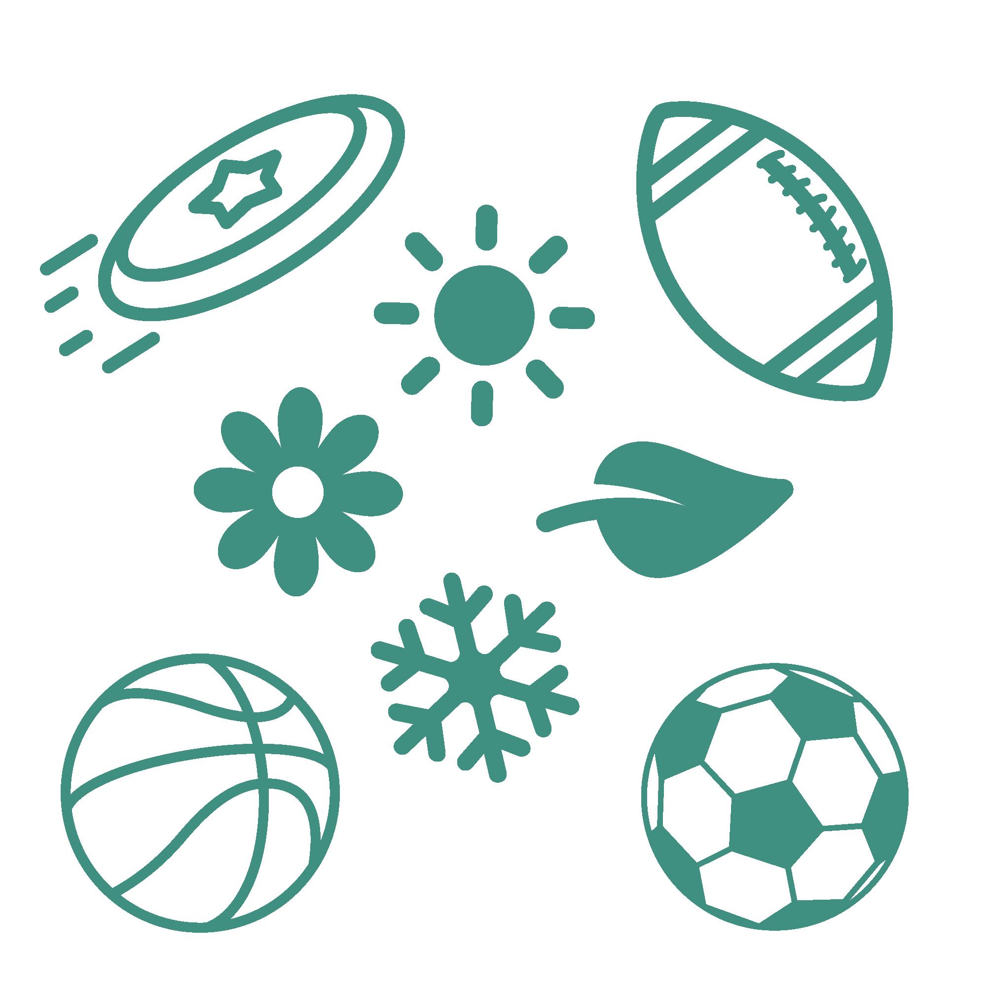 An icon depicting seasonal sports