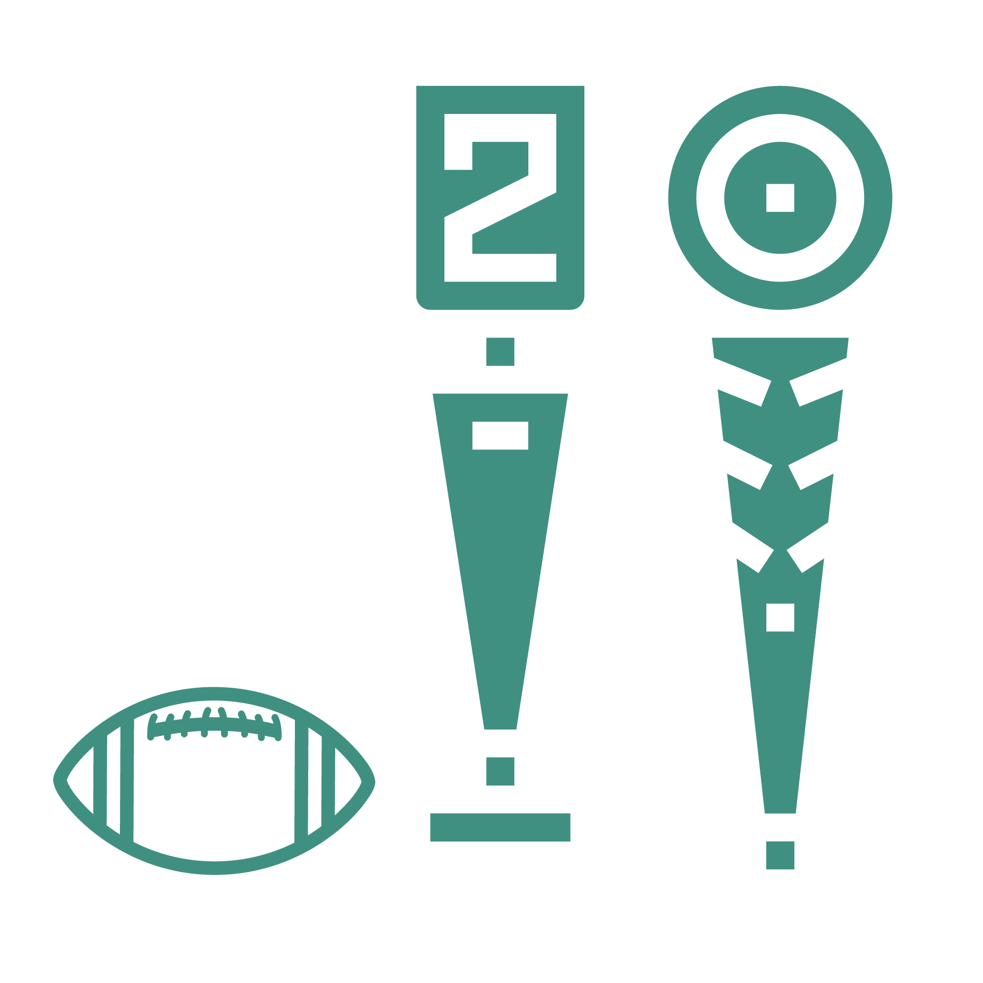 An icon depicting American football