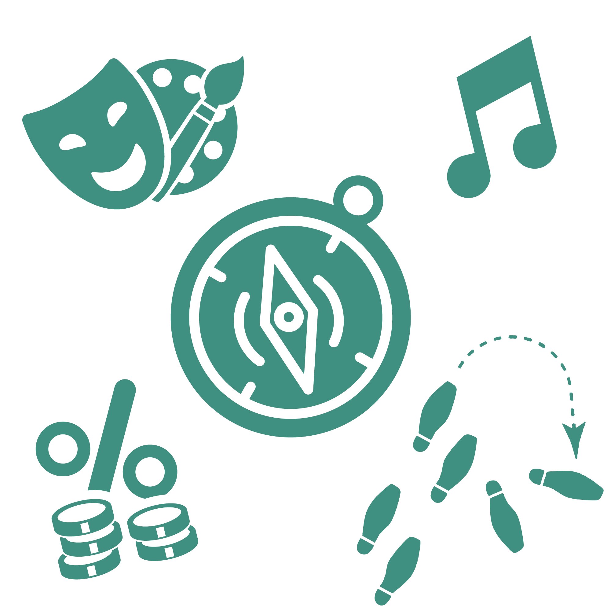 An icon depicting various after-school enrichment activities