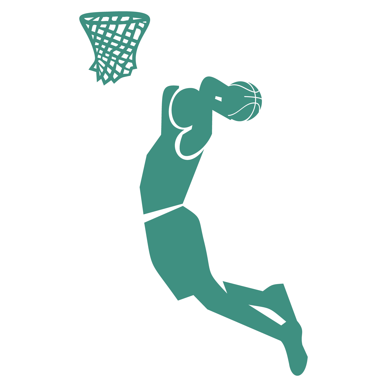 An icon depicting men's basketball