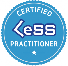 Certified LeSS Practitioner Badge PNG.