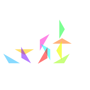 Simple graphic of evolution in Julia Capital's corporate colors.