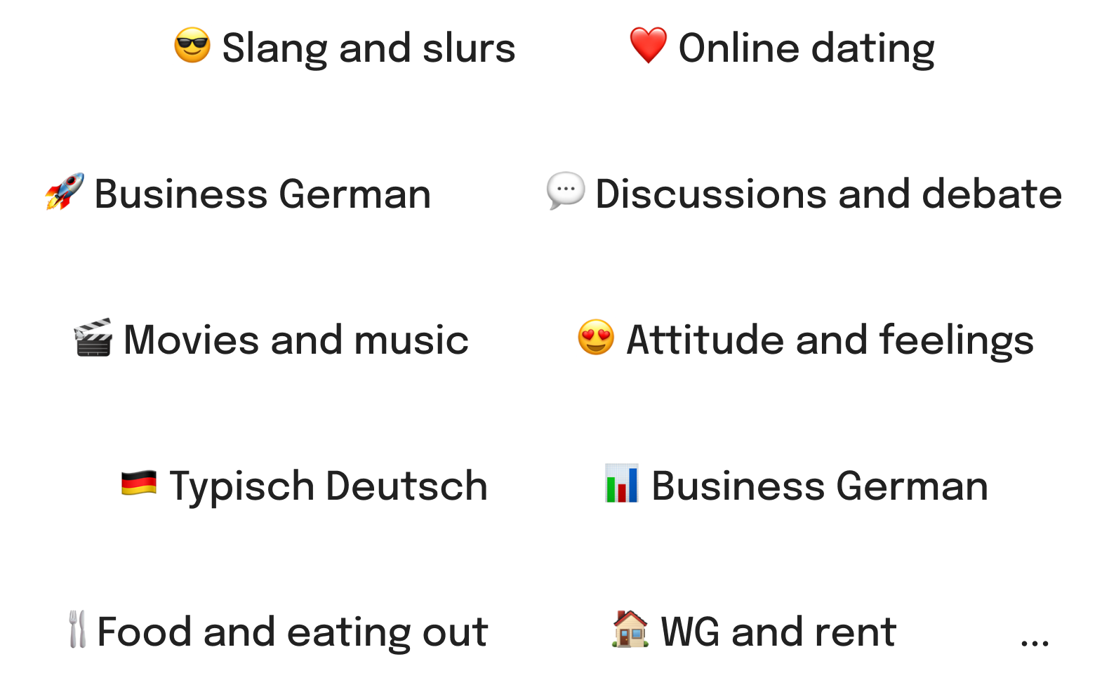 Learn practice German with heylama challenges