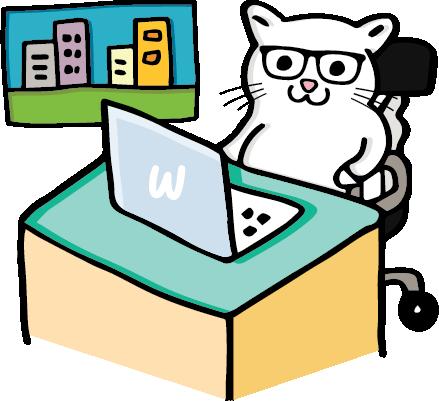 8Bit The Cat on a laptop