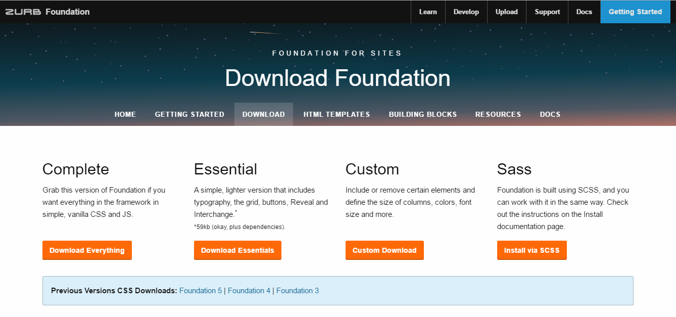 Foundation Download Page
