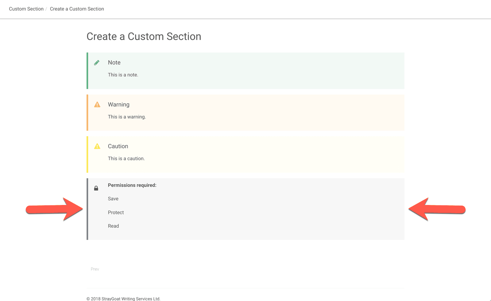 new custom section added to topic