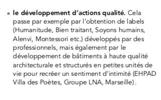 Le Rapport Libault soutient qu'il est nécessaire de développer des actions de qualité telles que celles portées par Alenvi