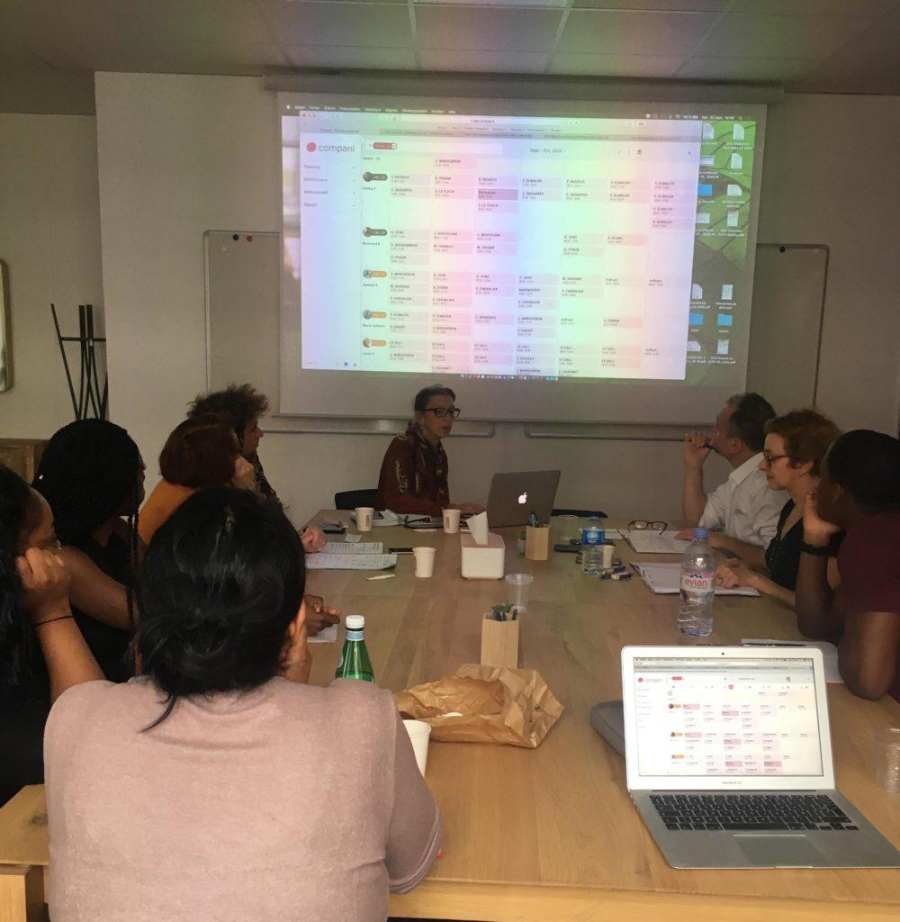 Collaboration sur la constitution des plannings en equipe autonome avec l'outil Compani