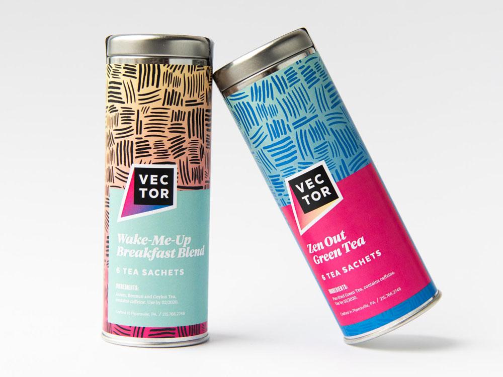 Vector Media Tea Tins