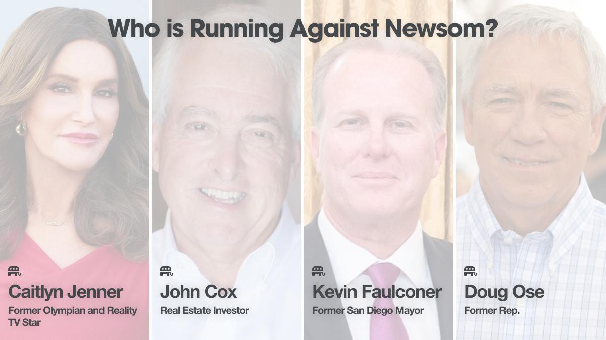 CA Recall: Who's running against Newsom?