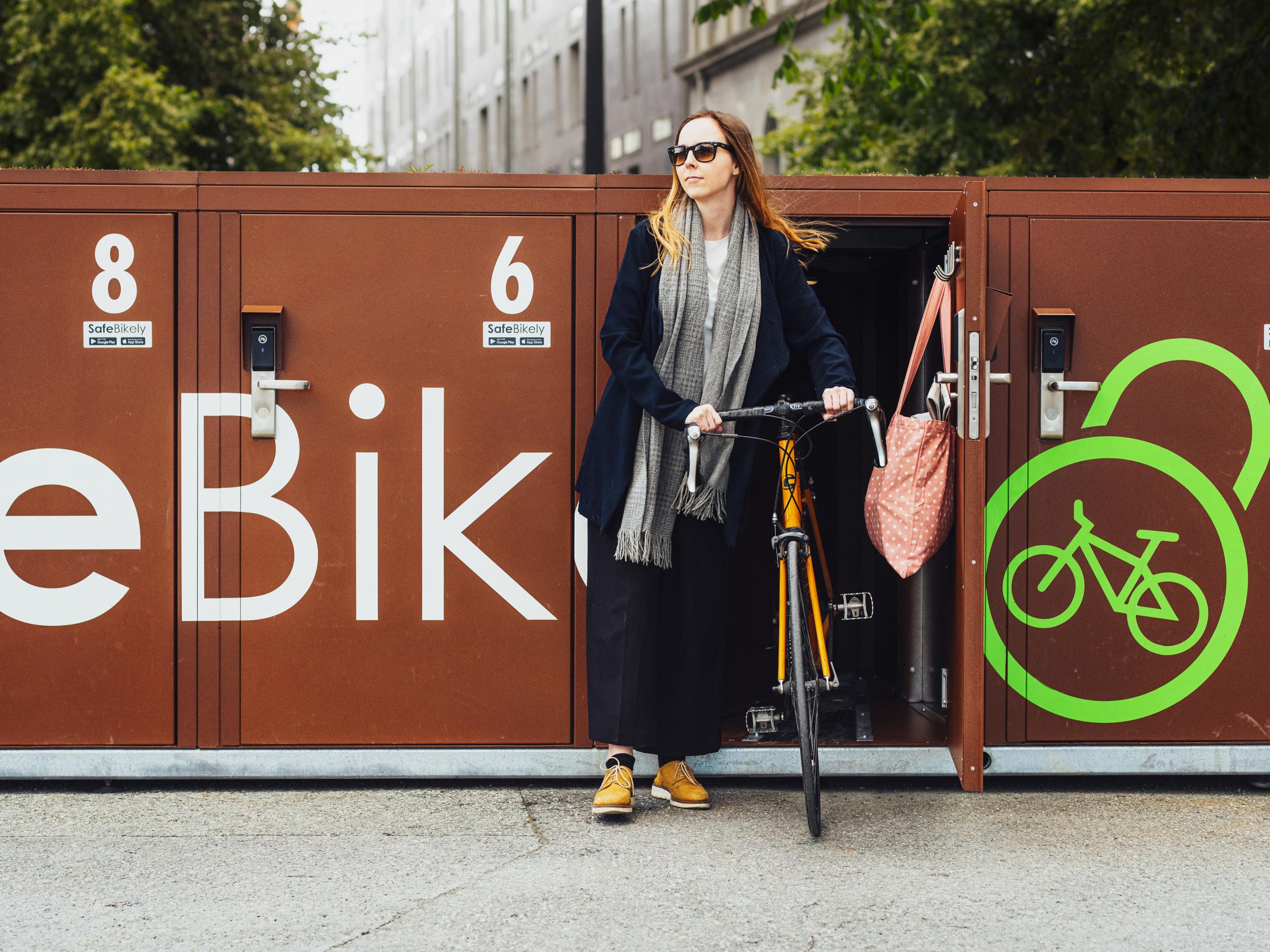 Uttesting av smarte sykkelskap i Kolbotn Sentrum