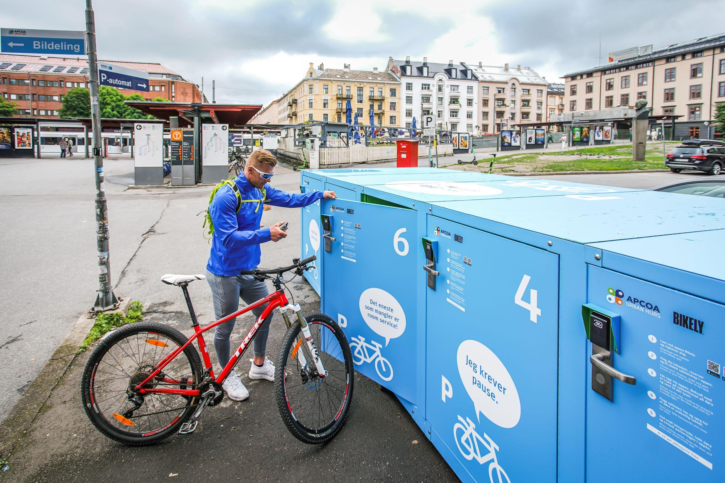 Sjekk denne nye sykkelparkeringen på Majorstuen.