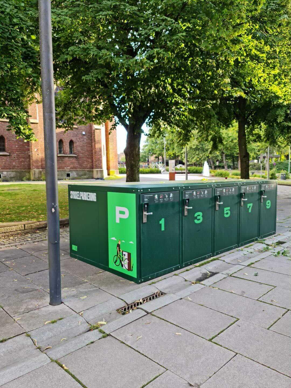 Ny sykkelparkering til Moss Sentrum