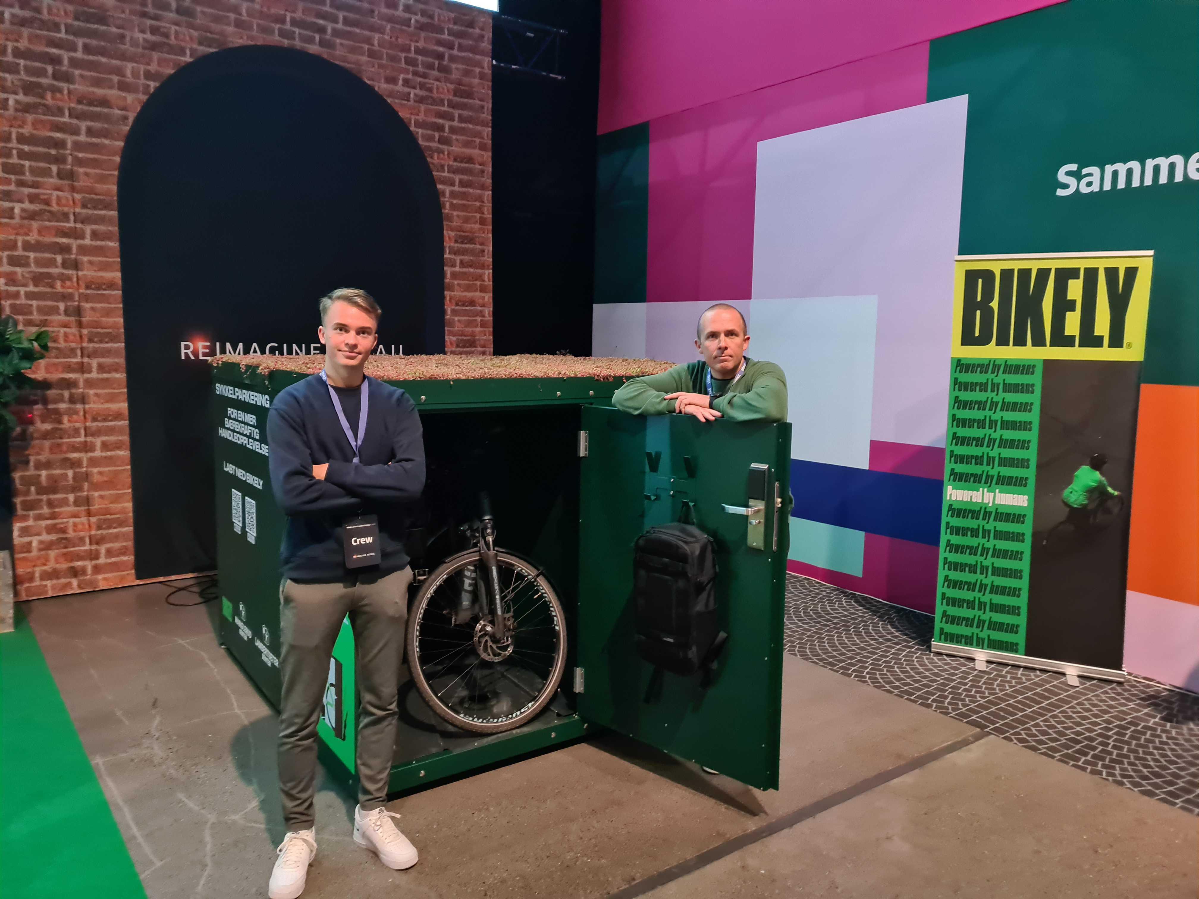 Obos Eiendom investerer i smarte sykkelskap ved Tveita Senter