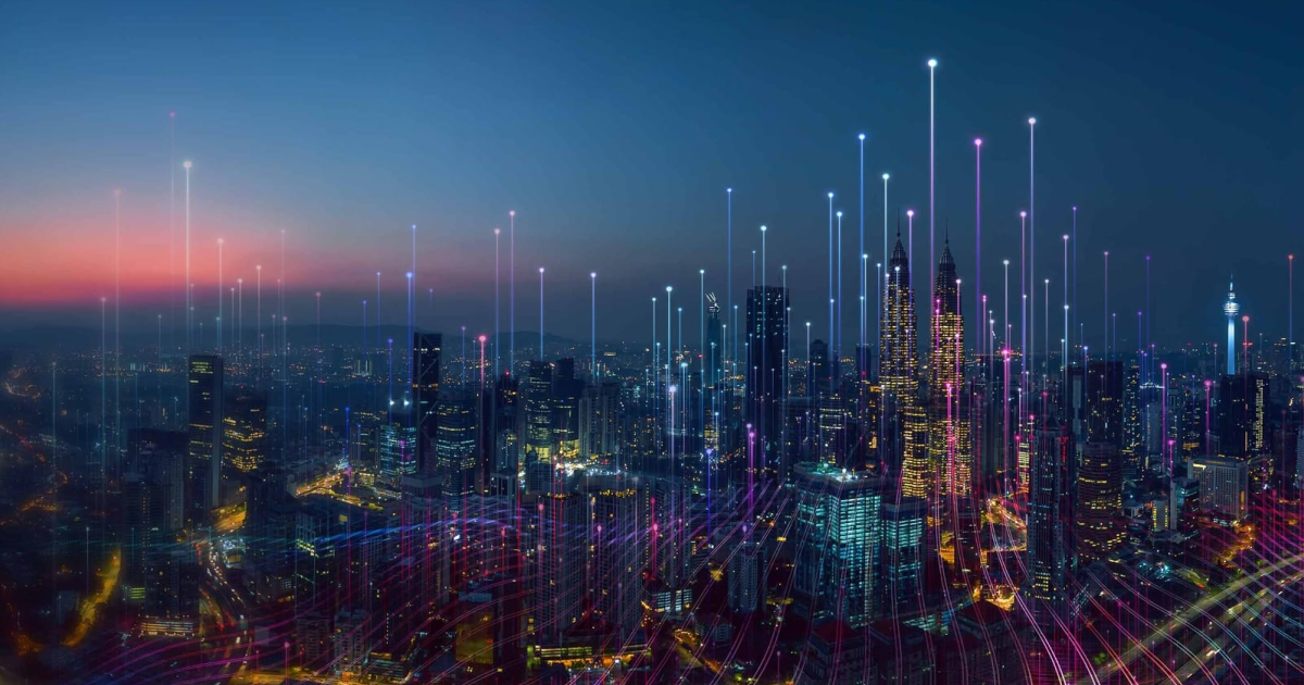 Photo of a SMART city, a part of the SMART city movement