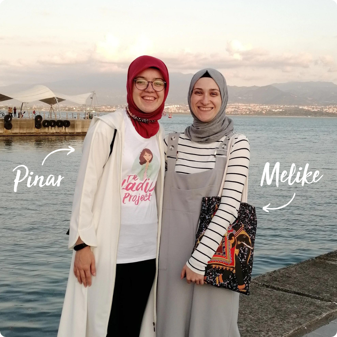 English-speaking friends, Pinar and Melike, meet in Turkey