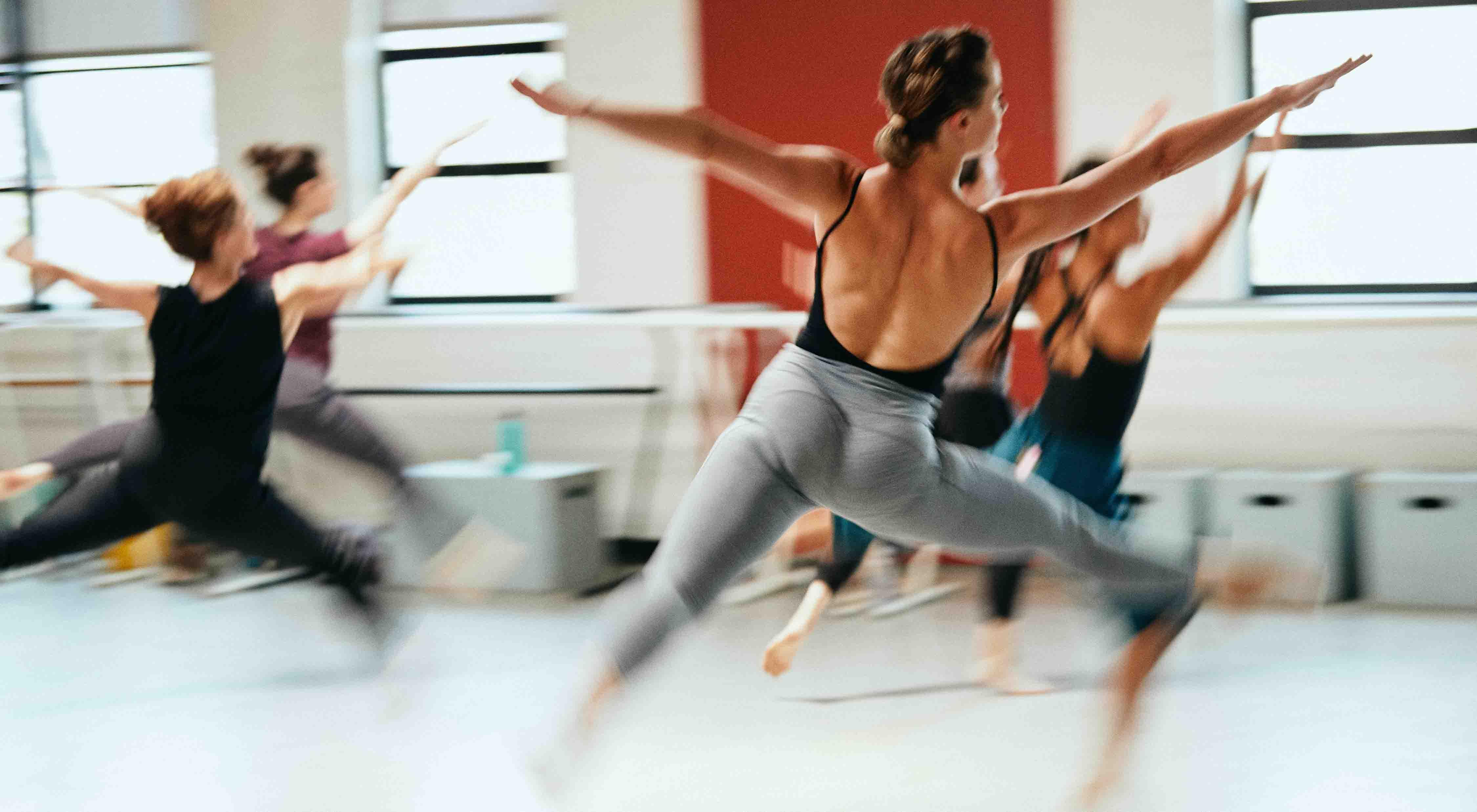A dance class with Janice Garrett
