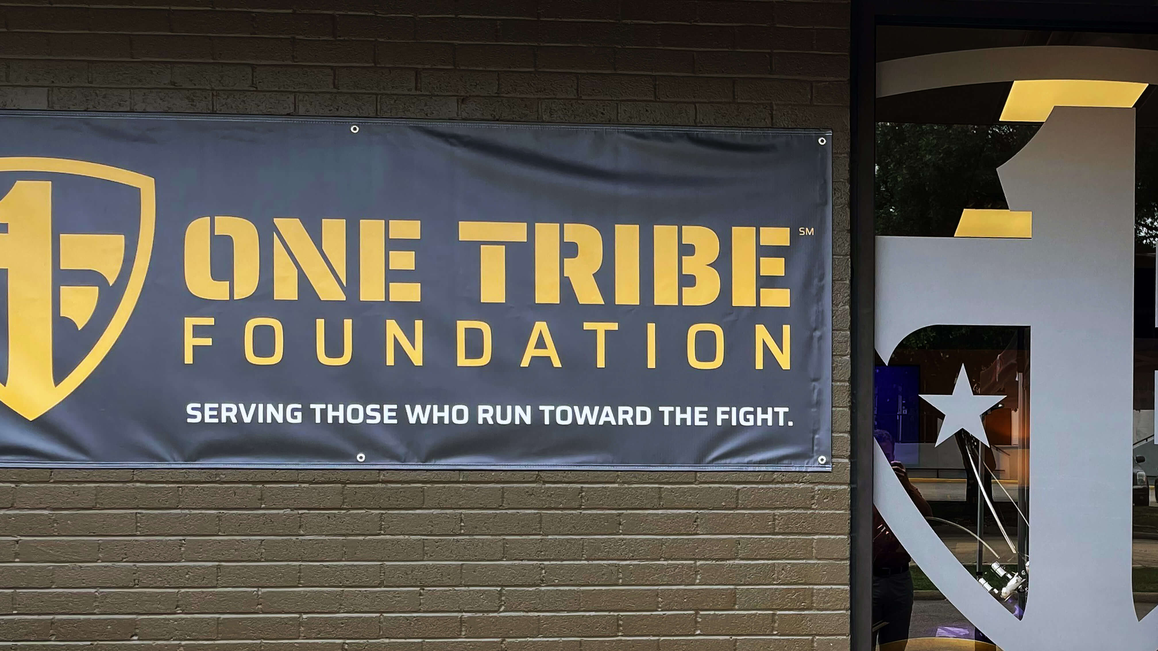 One Tribe Foundation outside banner