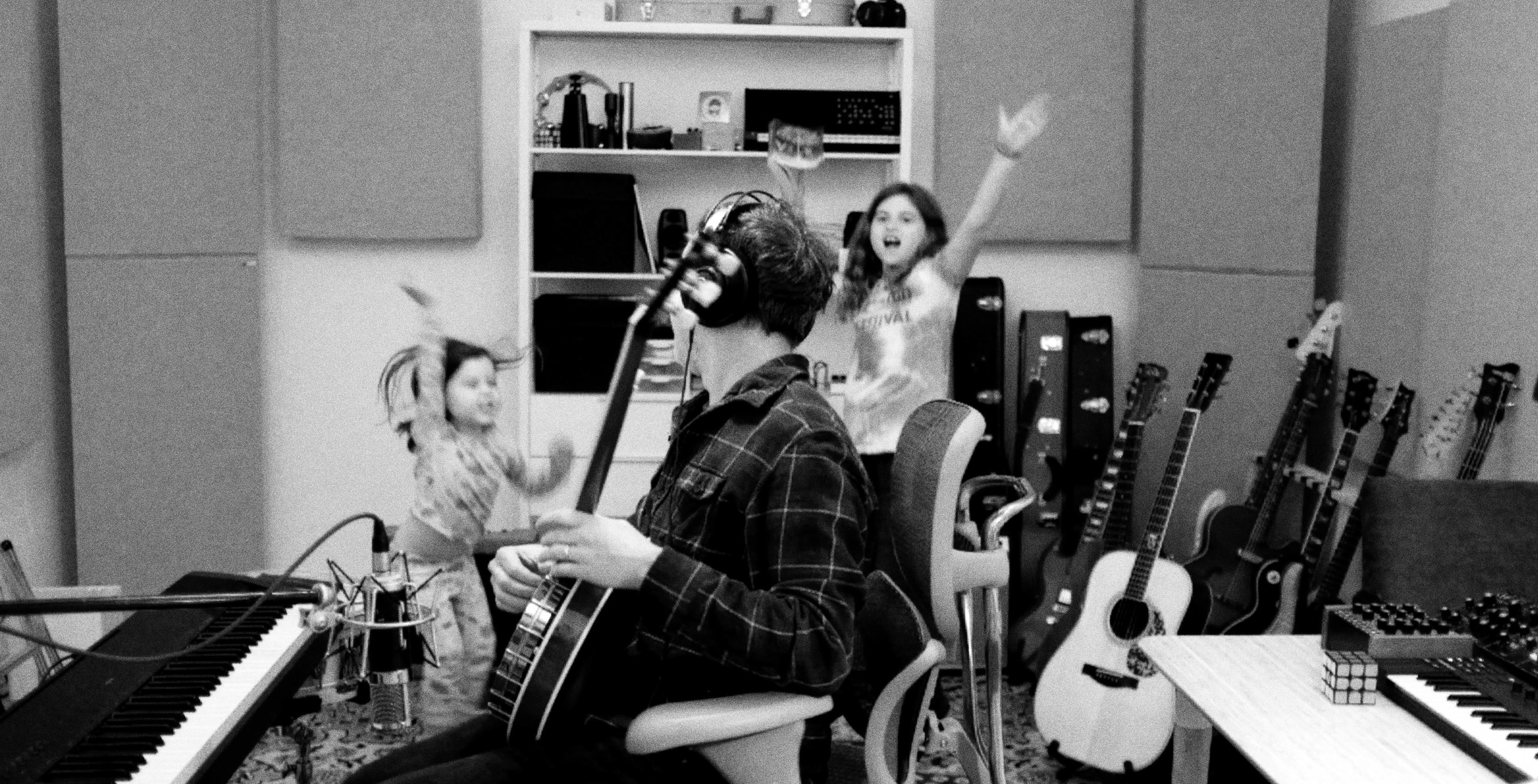 Photo of Alex in the studio.