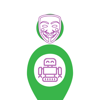 1 Here person in an anonymous mask to indicate pseudonymity.