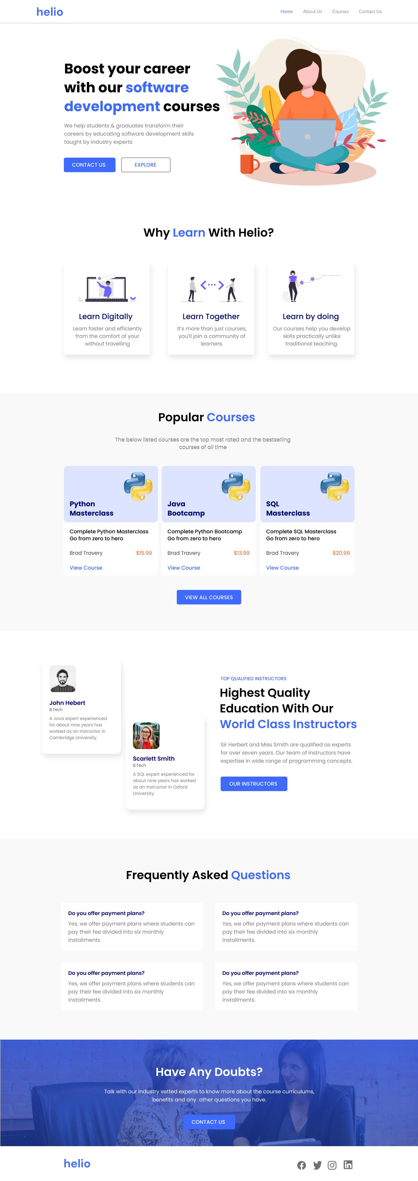 Website Design of Igloo Insurance