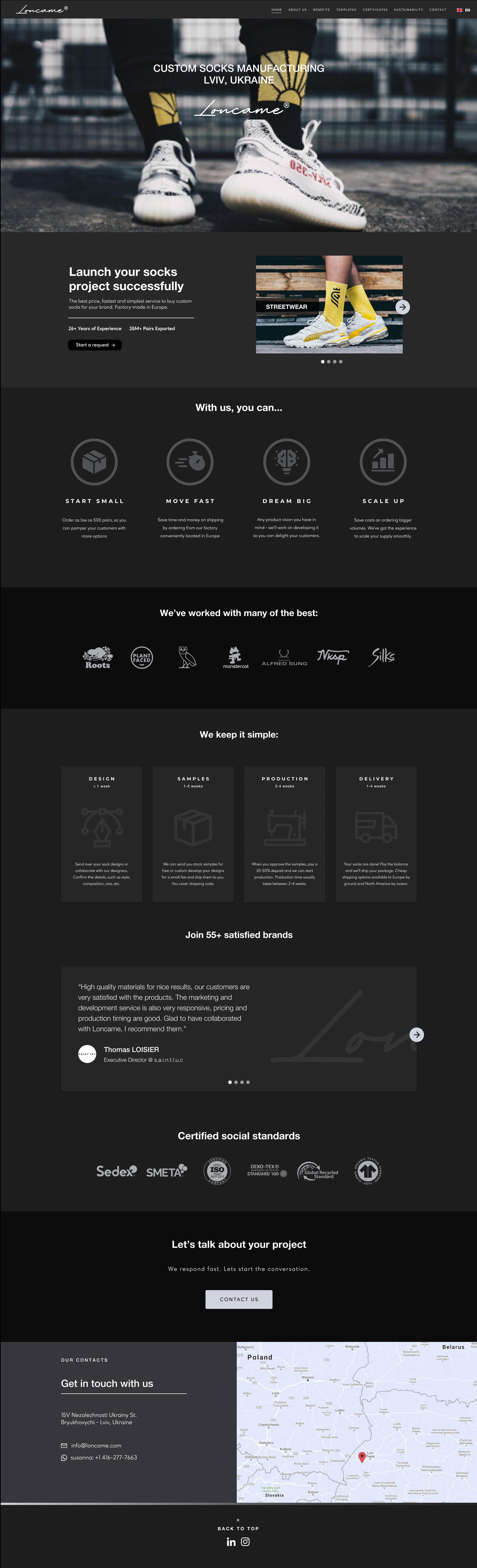 Website Design of Loncame