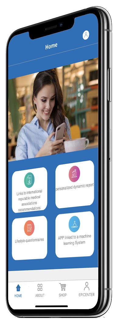 Smartphone mit epiAge App auf dem Display