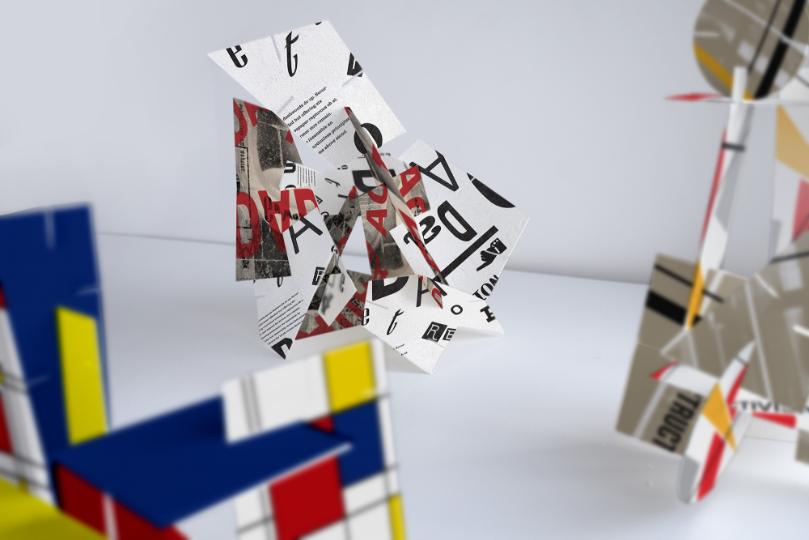 Modernism 3D game assembled