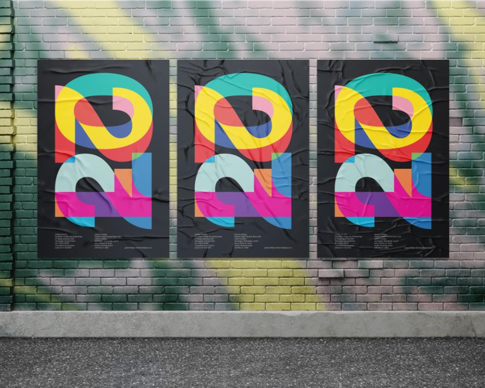 2021 Vernissage poster urban mockup