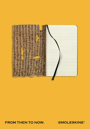 Moleskine ads - yellow