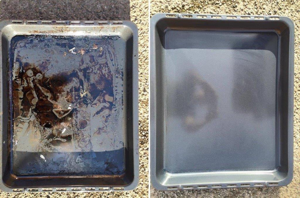 Baking Tray Before And After