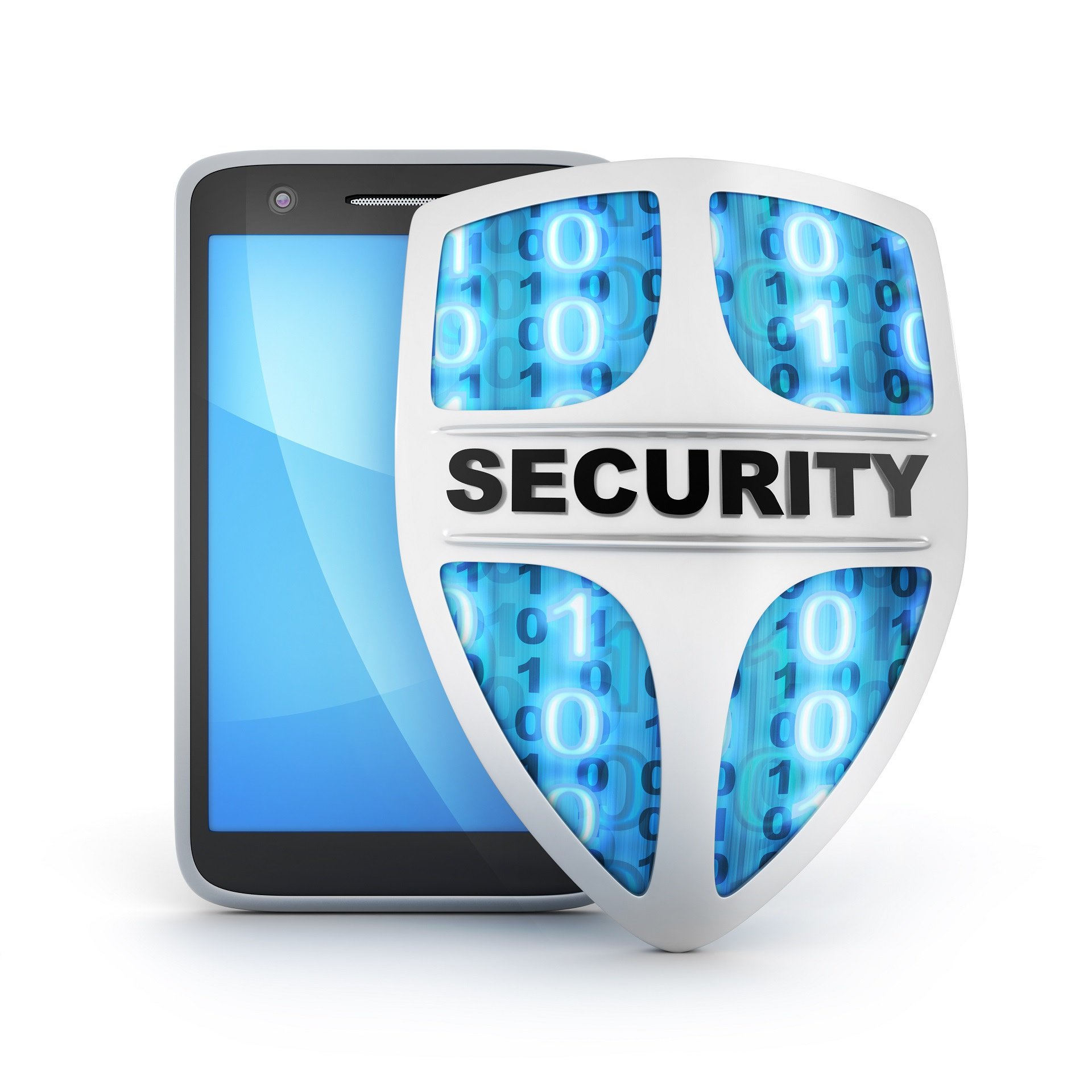 Mobile Device with Shield