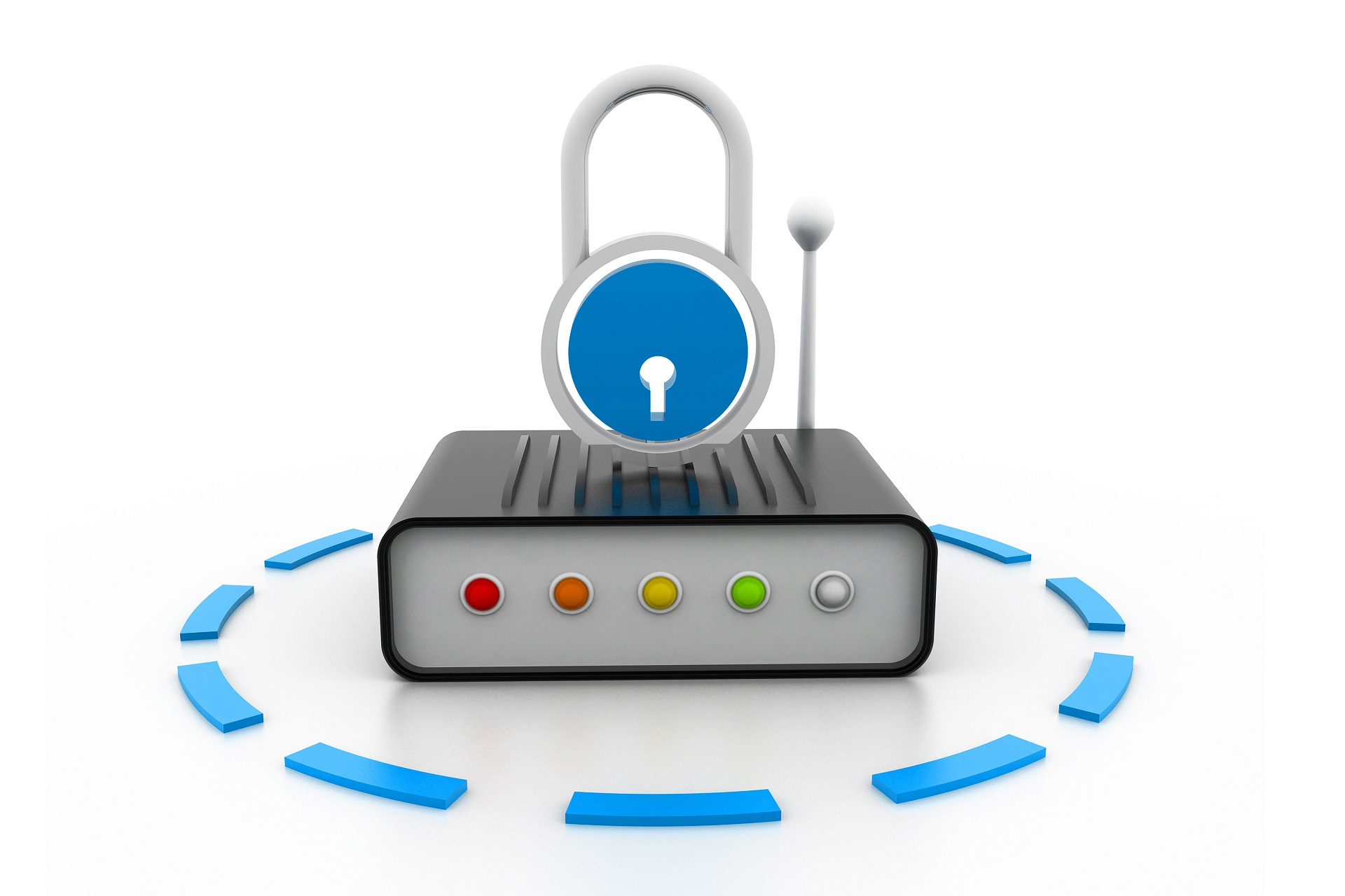 SD-WAN Router with Security Padlock