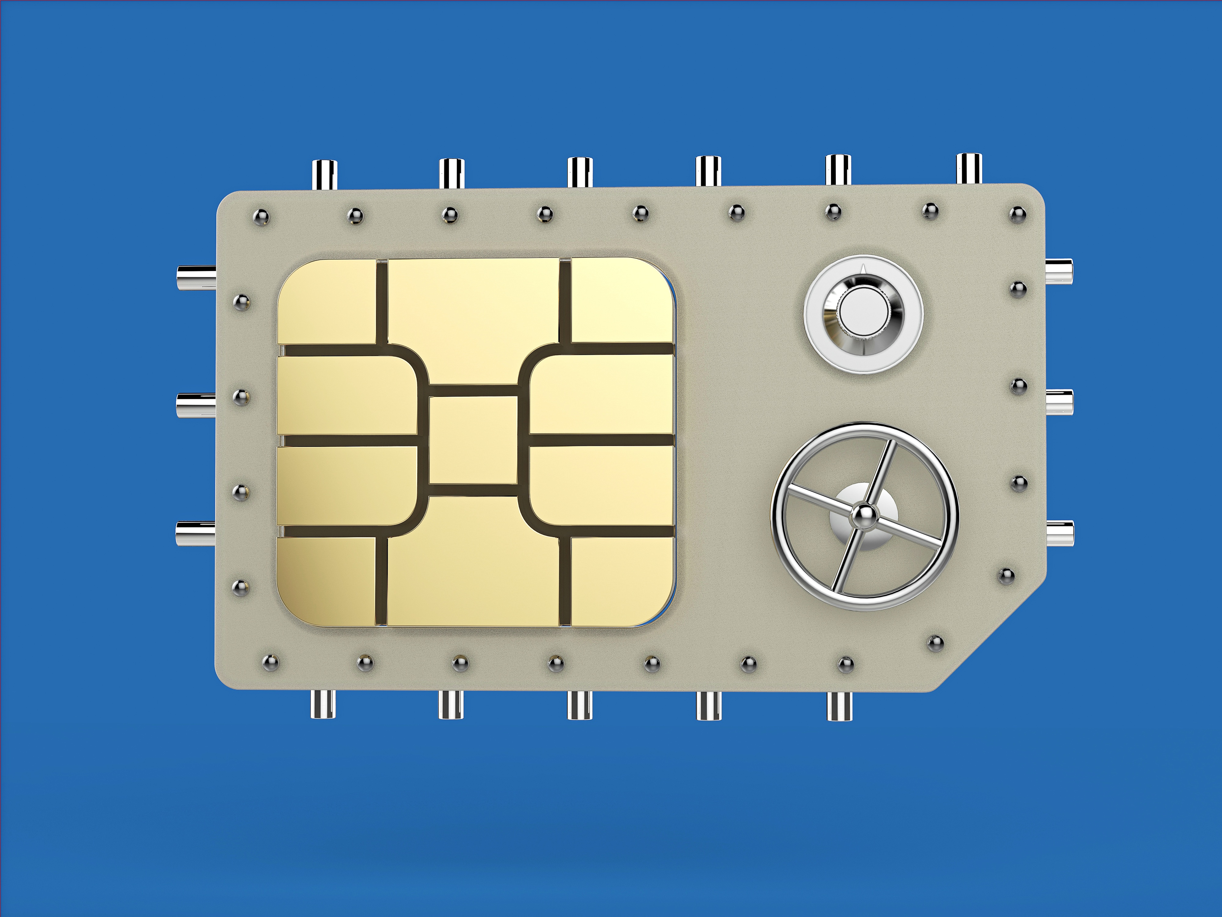 Sim Card with Safe Image and Wheel