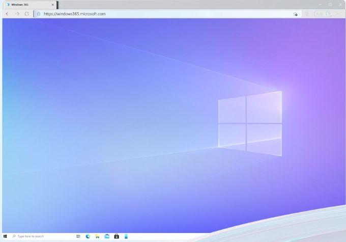 Windows 365 Home Screen
