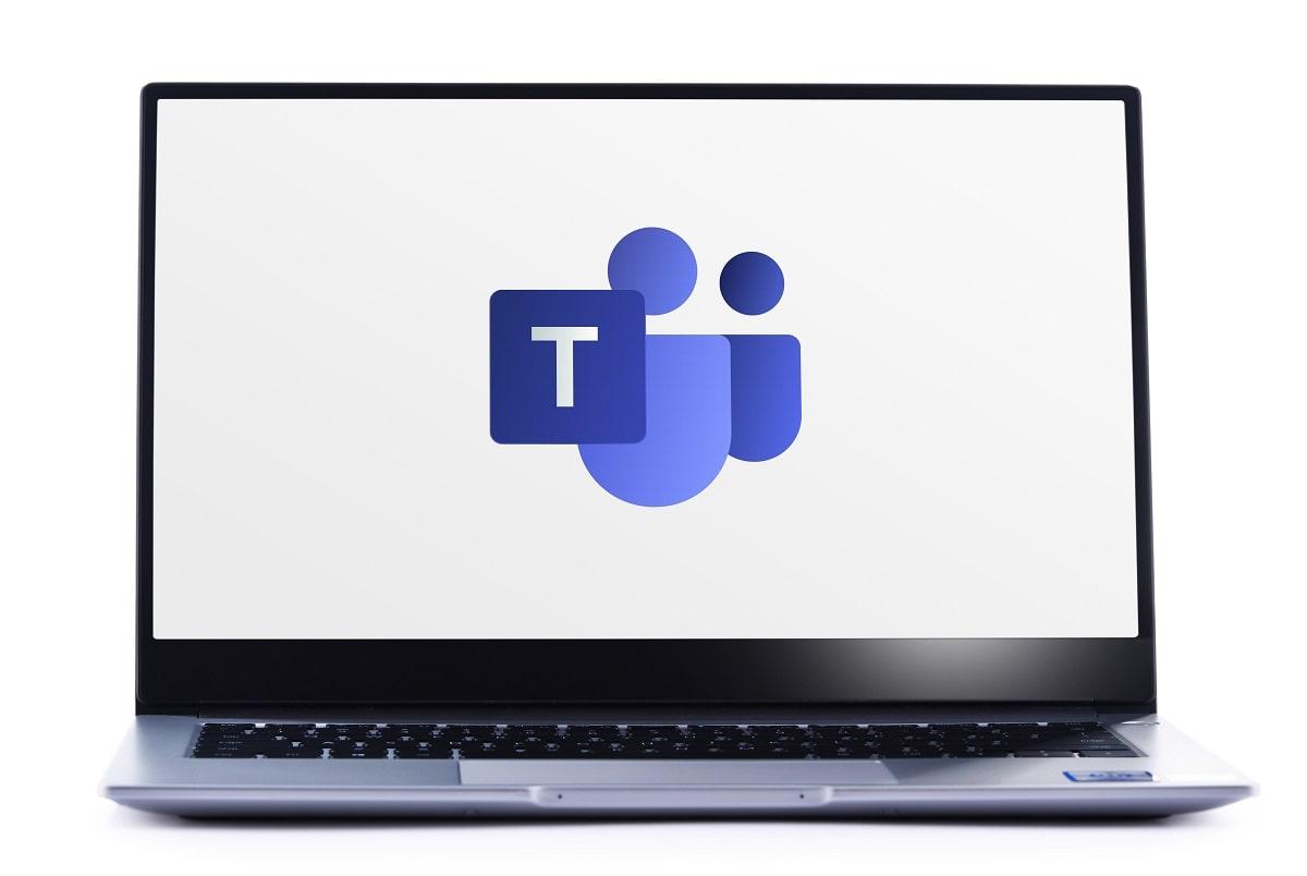 Laptop with Microsoft Teams Logo