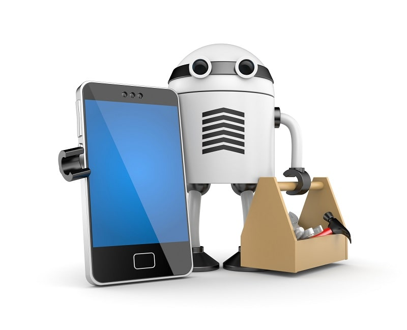 Robot Carrying Phone and Toolbox