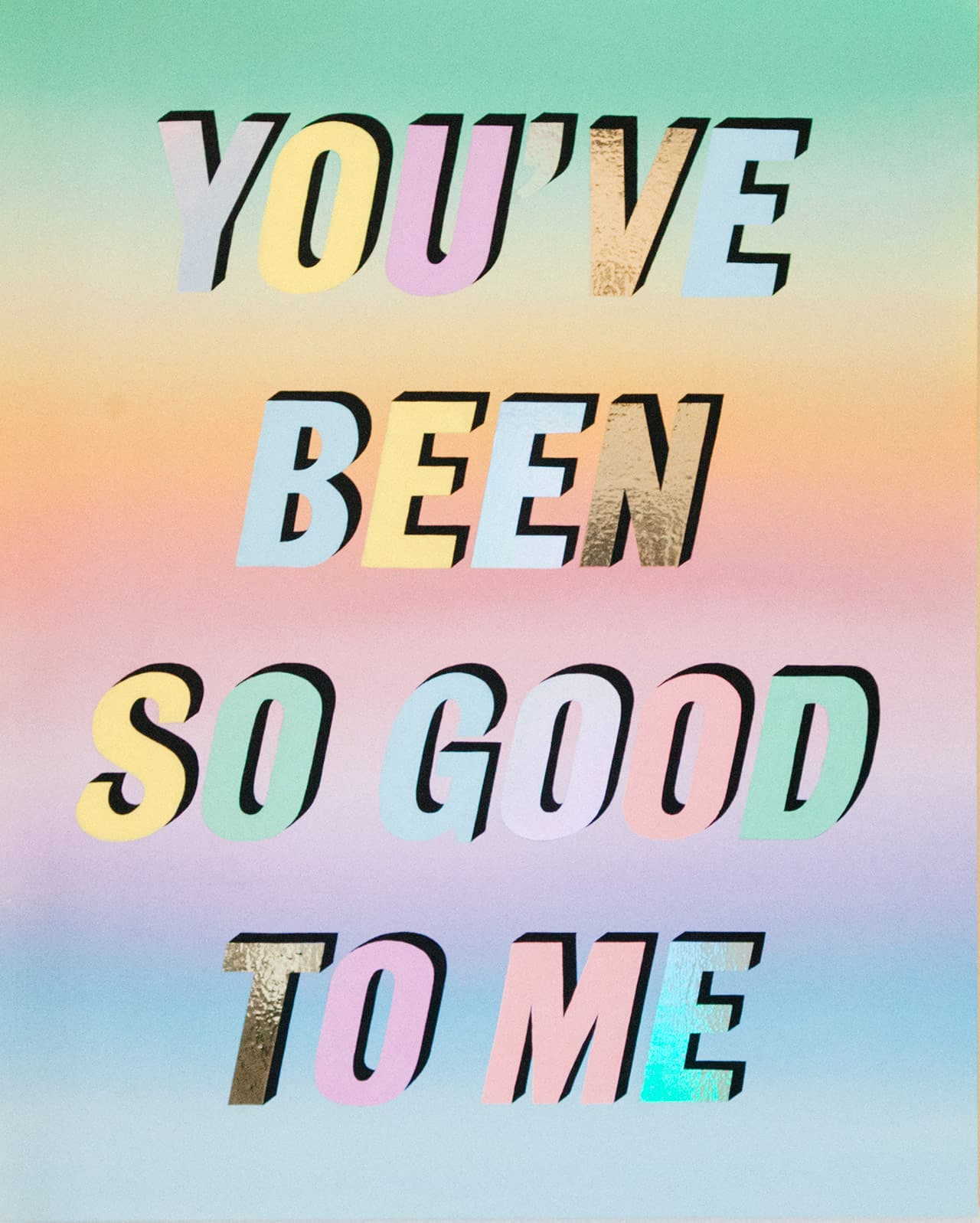 You've been so good to me, 2016