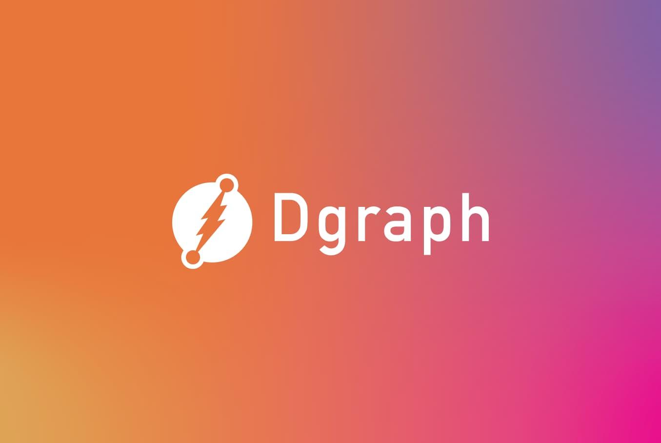Dgraph logo on a gradient background