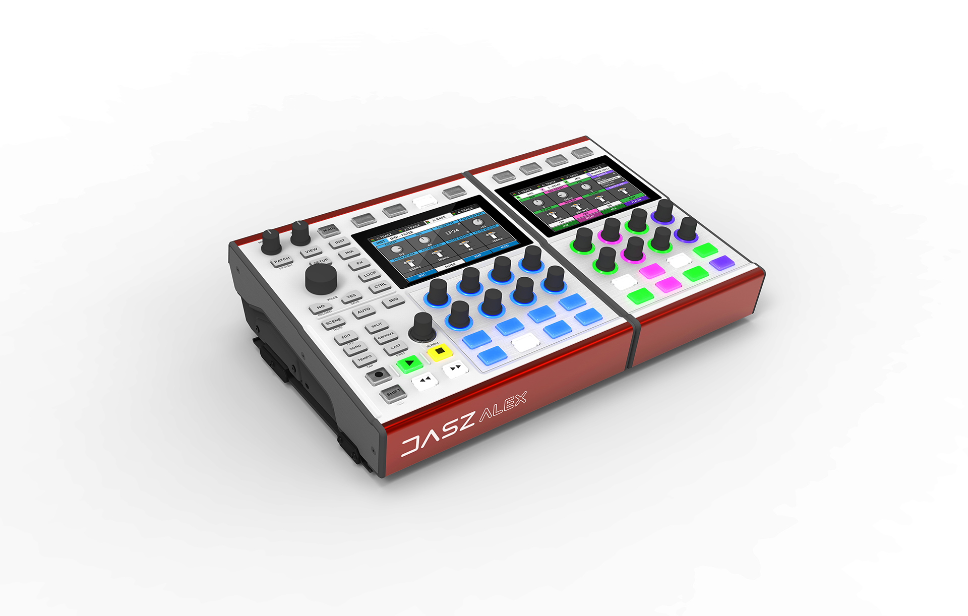 The DASZ Expandable Synthesizer on a plain white background, in a DUO configuration.