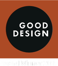 The GOOD DESIGN award logo, a prestigious distinction that denotes products and industry leaders in design and manufacturing that have chartered new directions for innovation and pushed the envelope for competitive products in the world marketplace.