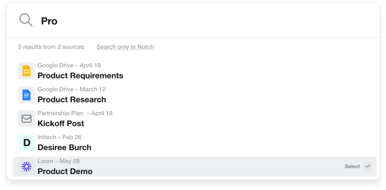 Global Search - Search across tools and files